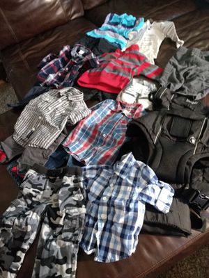 $40 takes all near new Quality & name brand baby clothes, Snuggie and shoes. Boys 12 to 18 months. for Sale in Thornton, CO