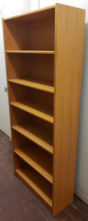 Nice Solid 6-Shelf Adjustable Bookcase (+Free Local Delivery) for Sale in Boston, MA