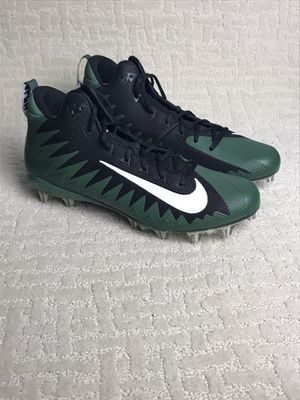 NIKE SIZE 13.5 ALPHA MENACE ELITE FOOTBALL CLEATS Green & Black AJ6604-003 New without box for Sale in French Creek, WV