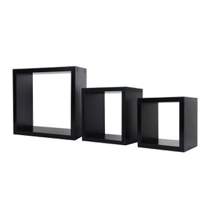 New Black Wall Shelves and Ledges Floating Decorative Home Dec Wood Display Set of 3 PG17JJ203BK for Sale in Ontario, CA