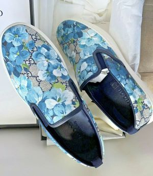 Men Gucci Bloom GG Supreme shoes (Blue) for Sale in Dallas, TX