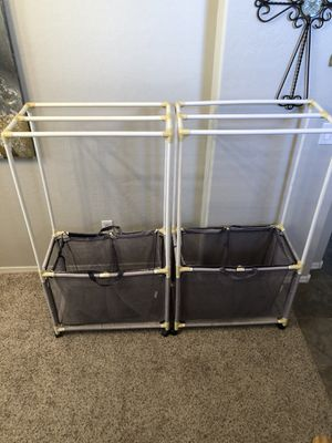 Two Mesh Pool equipment organizers for pool towels and towel drying rack for Sale in Gilbert, AZ