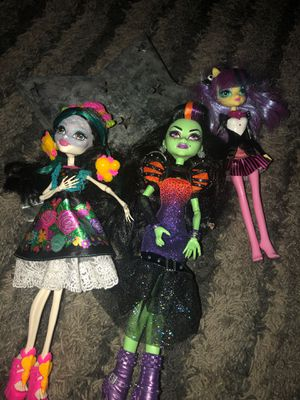 2 Monster High, and 1 my little pony doll for Sale in Meadowlands, PA