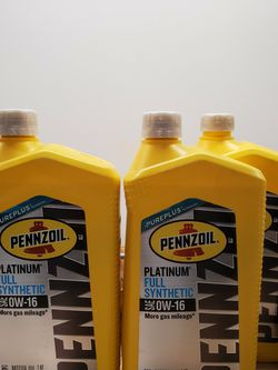 0W-16 Pennzoil Fresh Brand New 2 bottle plus left over for Sale in Boyds,  MD