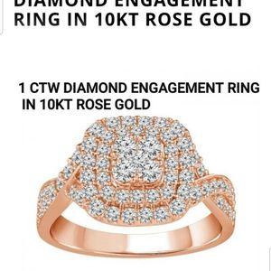 1 CTW Diamond Engagement ring 10k ROSE GOLD for Sale in Buckeye, AZ
