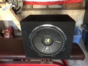 Kicker 12in Subwoofer w/amp & cords for Sale in San Diego, CA