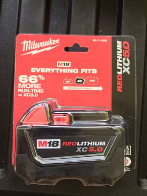 Brand New Milwaukee M18 5.0 Battery for Sale in Hilo, HI