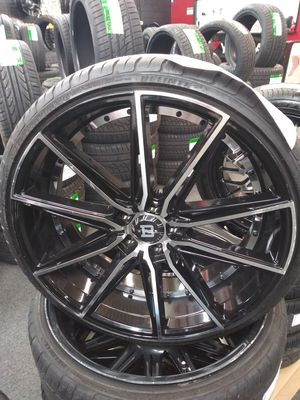 22 inch blade wheels and tires for Sale in Spartanburg, SC