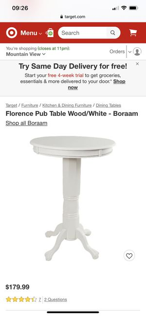 Target Bar Pub White Circle Table for Sale in Redondo Beach, CA