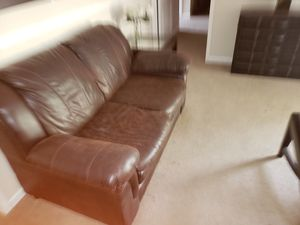 Fake leather couch and matching love seat for Sale in Morgantown, WV