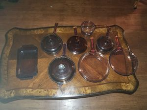Vintage Corning Visions Visionware Glass Cookware for Sale in Santa Ana, CA