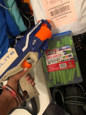 Elite Disruptor Nerf Gun + 200 Bullets for Sale in Columbus, OH