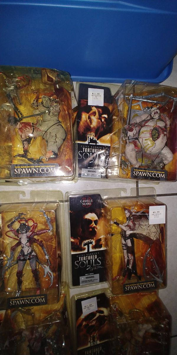 CLIVE BARKERS TORTURED SOULS ACTION FIGURES...GREAT COLLECTION , FOR HALLOWEEN TOO..SELLING AS GROUP ONLY...THANKS