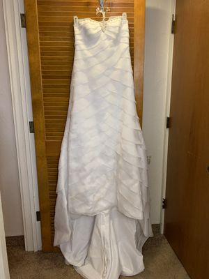 David's Bridal White Wedding Dress. for Sale in Haines City, FL