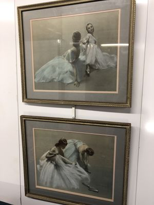 "Pair of Framed Ballerina Dance Wall Art Decor 21""x18"" for Sale in Boynton Beach, FL"