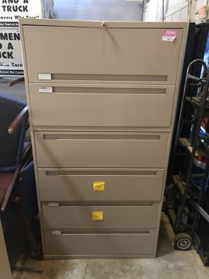Tall office file cabinet with key for Sale in Alexandria, VA