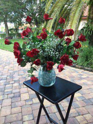 Blooming Silk Roses Flower Arrangement for Sale in Pembroke Pines, FL