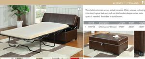 Twin leather bed for Sale in Manassas, VA