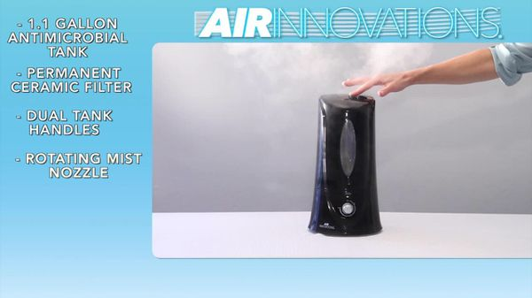 1.1 Air Innovations Cool Mist Humidifier For Medium Room Up To 400 Square Feet