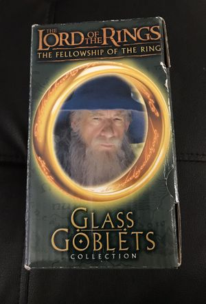 The Lord of the Rings Glass Goblets Collection Gandalf for Sale in Fairfield, OH