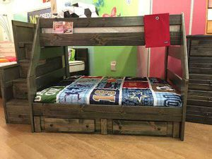 Twin overfull bunk bed with stairway chest. Color choice for Sale in Phoenix, AZ