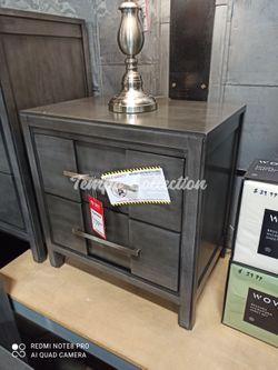 New Solid Wood Nightstand, Grey, SKU# FOA7580NTC for Sale in Santa Fe Springs,  CA