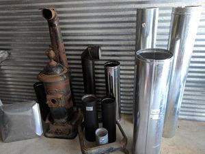 Antique wood stove made in Providence Rhode Island plus pipe and accessories for Sale in New Bedford, MA