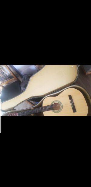 Acoustic guitar with case for Sale in Stockton, CA