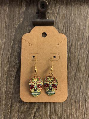 Handmade Dia de los Muertos- Day of the Dead Earrings for Sale in Plant City, FL