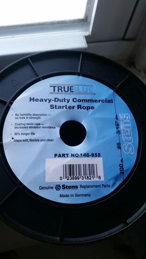 Stens true blue lawn mower starter rope chainsaw weedwackers for Sale in Gap, PA