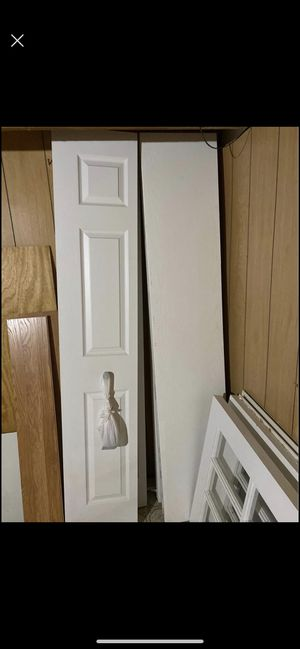 Closet doors 1 plane & 1 three panels for Sale in Sterling Heights, MI
