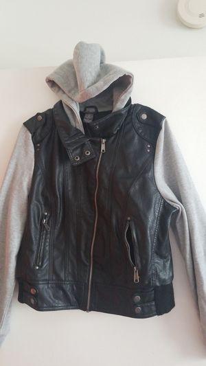 Black hoodie Jacket w gray sleeves for Sale in Miramar, FL