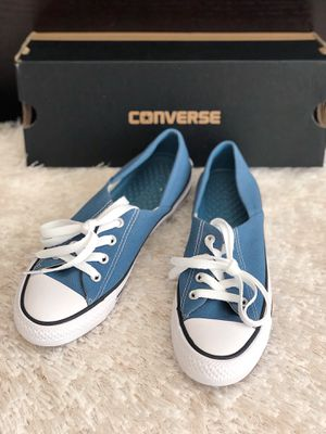 ✨New CONVERSE Chuck Taylor All Star Ctas Coral Ox Blue Sneakers Women's Shoes Size 5.5M for Sale in The Woodlands, TX