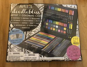 Art 101 Kids 129-Piece Art Set Doodlebliss Artist Case for Sale in Plantation, FL