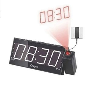 "Projection Clock with FM Radio, 7"" LED Display, Wall Ceiling Clock, Nap/Sleep Timer, 3 Dimmer, Dual Alarm and Dual USB Ports for Wall,Travel, Bedroom for Sale in Irwindale, CA"