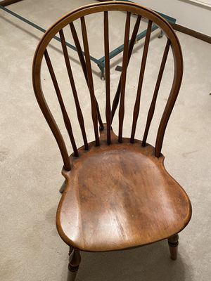 Wood desk chair for Sale in West Bloomfield Township, MI
