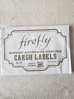 Serenity/Firefly screen Accurate replica cargo labels prop. for Sale in Houston,  TX