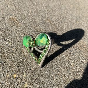 Green Crystal Heart Ring for Sale in Riverside, CA