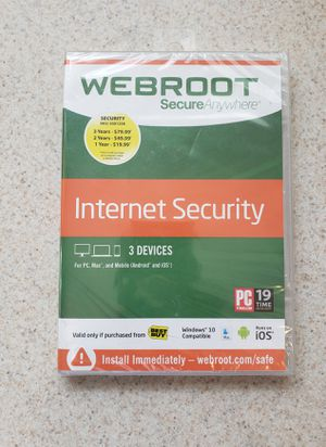 WebRoot Internet Security Software (PC & Mobile) for Sale in North Las Vegas, NV