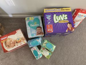 Diapers and wipes NEW IN BOX for Sale in Newport News, VA