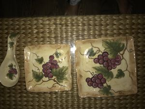 Decorative wine plate and spoon for Sale in Washington, DC