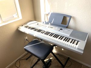 Yamaha Grand Keyboard w/stand, piano bench, pedals, & music stand for Sale in Brea, CA