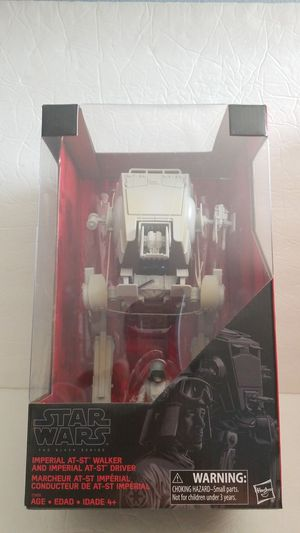 IMPERIAL AT-ST WALKER and DRIVER Star Wars The Black Series Hasbro Disney action figure NEW for Sale in Covina, CA