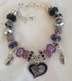 Baltimore ravens charm bracelet @ $20 or 2@ $30 for Sale in Baltimore, MD