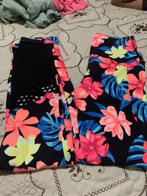 Pink leggings size x small take both for $60 for Sale in Portland, OR
