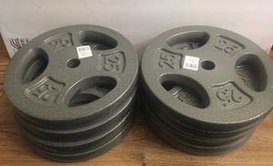 Weights 25lb Standard 1 inch plates $50 each for Sale in Covina, CA