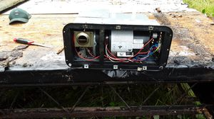 c hot water heater. Door screen complete. Forced air gas furnace all 12 v system rv for Sale in Springfield, OR
