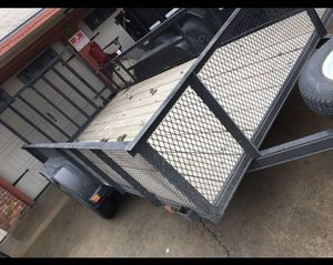 14 foot utility trailer with gate 14 ft tandem axel dual axel for Sale in Houston, TX