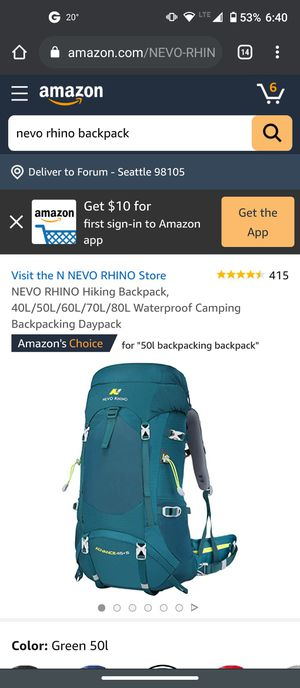 Brand New Hiking Backpack 50L for Sale in Seattle, WA