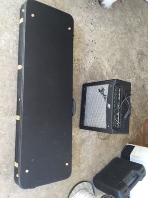 Bass guitar , speaker is included 150 $$$ and cables obo for Sale in Fontana, CA
